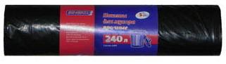 Пакеты для мусора супер-прочные ЗИНЕКО, 240л, 5шт, 40мкм