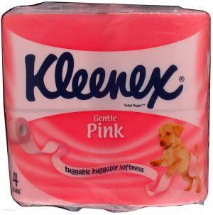 Туалетная бумага Kleenex, 2-х слойная, 4шт/уп, цветная