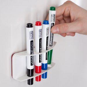 Держатель для 4-х маркеров, вертикальный CLASSIC, магнитный