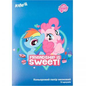 Бумага цветная неоновая 10л, 5 цв. А4 Little Pony LP17-252
