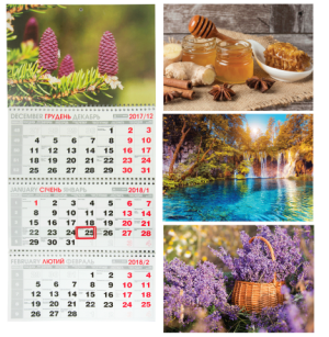 Календарь настенный квартальный 2018, 3 пружины