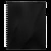 Тетрадь на пружине NERO В5, 96 листов с пластиковой обложкой, черный