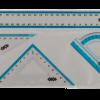 Комплект: линейка 30 см, 2 треугольника, транспортир
