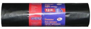 Пакеты для мусора супер-прочные ЗИНЕКО, 120л, 10шт, 70мкм