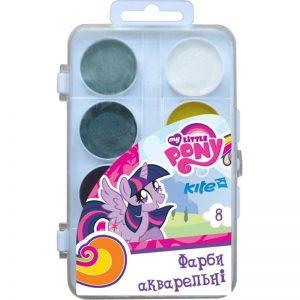 Акварельные краски 8 цветов Little Pony LP17-065, пласт. упаковка