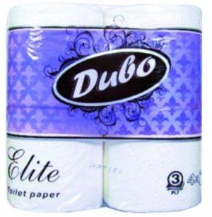 Туалетная бумага ДИВО-ЭЛИТ, 3-х слойная, 4шт/уп, белая