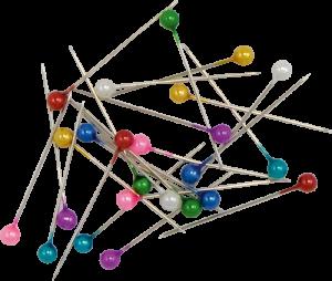 Булавки с разноцветными круглыми головками, 100шт , 34мм JOBMAX