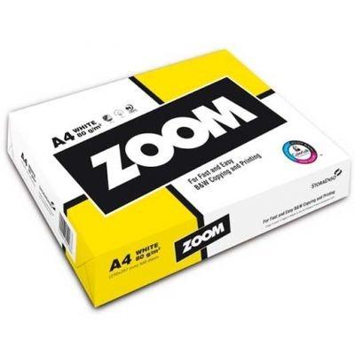 Бумага А4 ZOOM офисная, белая, 80г/м, 500лист/пачка