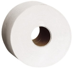 Туалетная бумага KATRIN d-19см, 2-х слойная, белая, 200м
