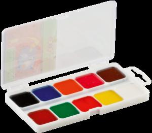 Акварельные краски медовые 10 цветов, пластик