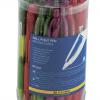 Ручка шариковая автомат. с резиновым грипом, разноцветные прозрачные 12559