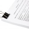 Зажимы для бумаги 15мм, 12шт/уп., черные 12465