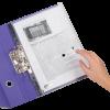 Папка-конверт на кнопке А4 с боковой перфорацией 13198