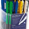 Ручка шариковая автоматическая с резиновым грипом, разноцветные 12558