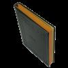 Ежедневник А5 датированный 2018 SAGA черный, золотой торец 13454