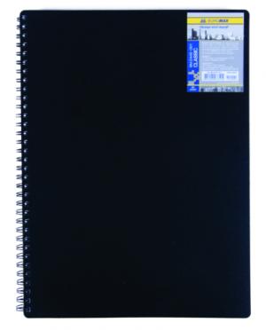 Тетрадь на пружине Classic А6, 80 листов, в клетку, c пластиковой обложкой