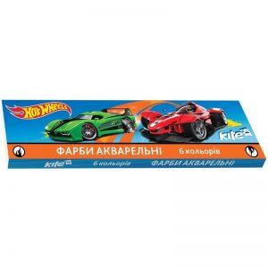 Акварельные краски 6 цветов Hot Wheels HW17-040, картон. упаковка