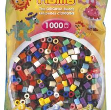 Набор цветных термобусин, 1000шт, d-5мм, 22 цвета