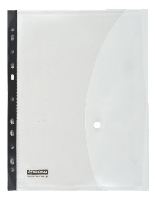 Папка-конверт на кнопке А4 с боковой перфорацией