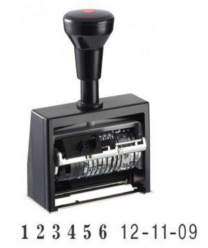 Датер-нумератор автоматический 6 разрядов, 4,5мм, металл/пластик