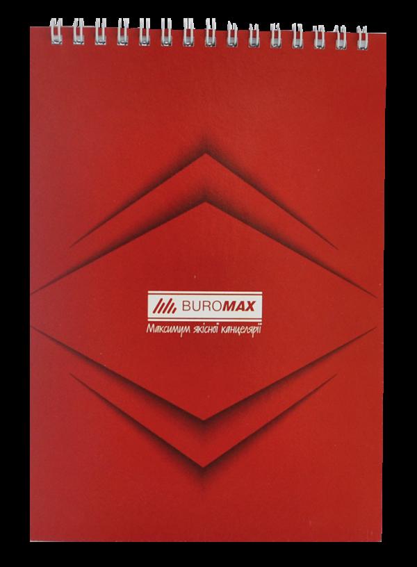 Блокнот  А5, 48 листов, Monochrome JOBMAX, пружина сверху, клетка