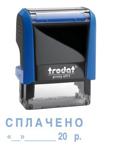 Штамп СПЛАЧЕНО с датой на оснастке 4911-Trodat, размер 38х14мм