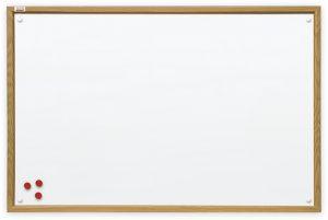 Доска магнитная для маркера ТМ 2х3, белая, в рамке MDF