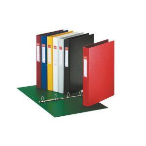 Папка картонная А4 на 4 кольца, 35мм Esselte, ассортимент цветов