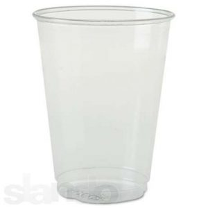 Стакан пластиковый, 230мл+МЕТКА, 100шт, прозрачный