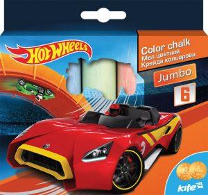 Мел цветной JUMBO 6шт. Hot Wheels HW16-073