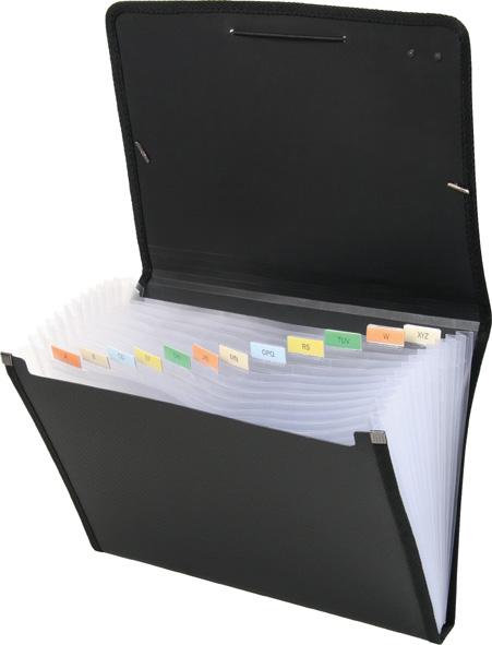 Папка для документов пластиковая А4 на резинках,12 отделений