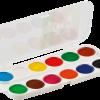 Акварельные краски медовые 12 цветов, пластик