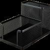 Подставка канцелярская, 100х150х90мм, металлическая, черная и серебряная