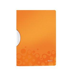 Папка пластиковая А4 с поворотным зажимом LEITZ WOW до 30 листов