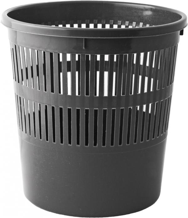 Корзина для бумаг пластиковая, 8л, черная