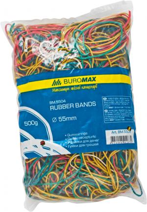 Резинки для денег 500г, разноцветные