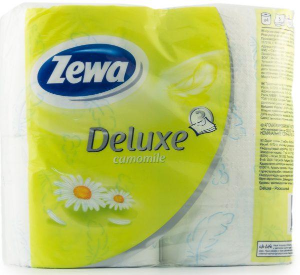 Туалетная бумага ZEWA, 3-х слойная, 4рулона в упаковке