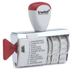Датер ленточный 4мм с 12-тью бухгалтерскими терминами, Trodat