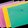 Папка-конверт на кнопке А5 (маленькая!!!), прозрачная