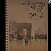 Тетрадь на пружине сбоку KRAFT А4, 96 листов, твердая обложка, 4 отверстия