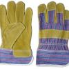 Перчатки комбинированные, кожа+хлопок, пара
