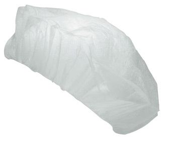 Шапочки-береты одноразовые, 100шт, белые