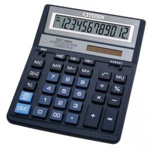 Бухгалтерский калькулятор Citizen SDC-888XBL, 12 разрядов, c голубыми клавишами